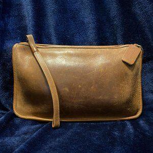 Vintage Coach Leather Handbag - Tan Worn Leather